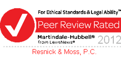 Peer Review Rated For Ethical Standard & Legal Ability | Preeminent | Martindale-Hubbell 2012 from LexisNexis